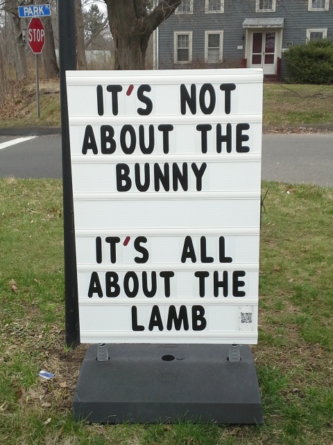 It's not about the bunny, it's all about the Lamb
